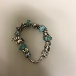 Pandora Bracelet!  Filled with 17 Charms!!